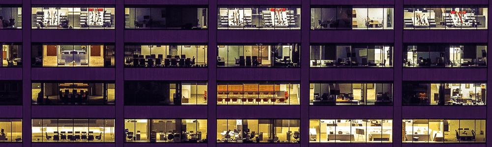 A view of different types of enterprise offices in a highrise